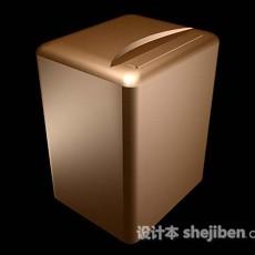 棕色洗衣机3d模型下载