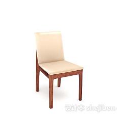 木质米黄色家居椅子3d模型下载