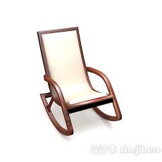 木质休闲摇椅3d模型下载