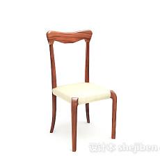 家居简单木质椅子3d模型下载