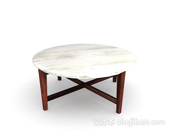 大理石圆餐桌