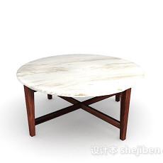 大理石圆餐桌3d模型下载