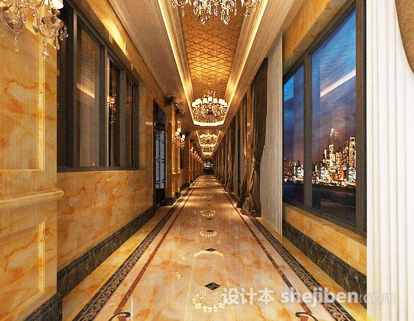 酒店走廊模型下载