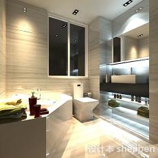 现代简约浴室3d模型下载