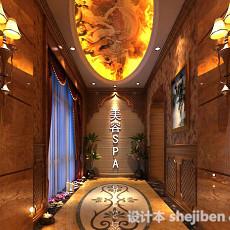 美容院走廊3d模型下载