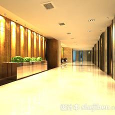 酒店大厅3d模型下载