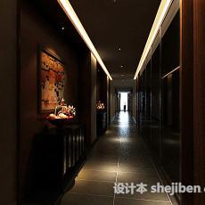 餐厅走廊3d模型下载
