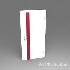 白色门3d模型下载