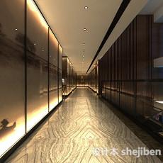 现代走廊3d模型下载
