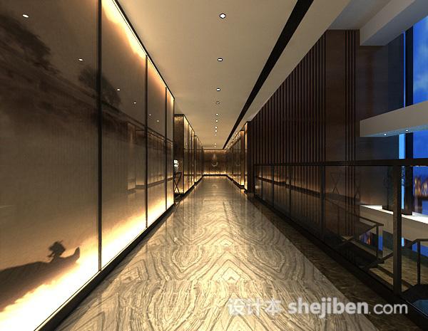 酒店走廊3d模型