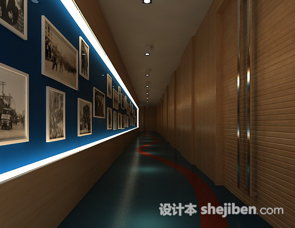 博物馆走廊3d模型下载