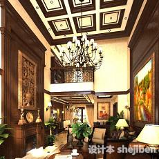 欧式古典客厅3d模型下载