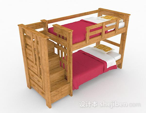 木质儿童床上下铺