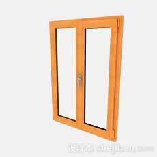 现代风格原木色窗户3d模型下载
