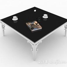 黑色简约茶几3d模型下载