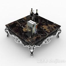欧式大理石茶几3d模型下载