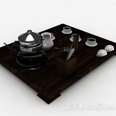 中式茶具3d模型下载