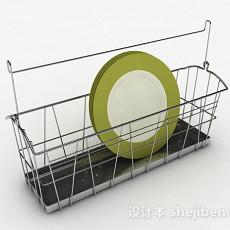 简约不锈钢厨房晾碗架3d模型下载