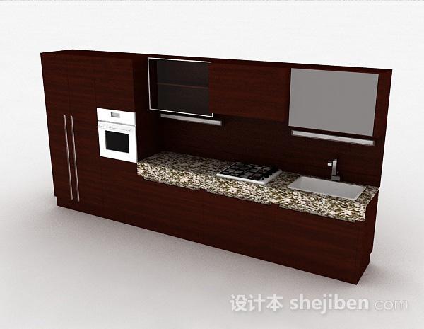 一字型现代风格整体橱柜