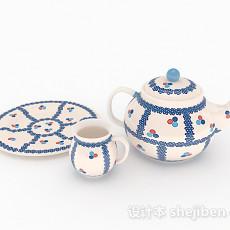 家居陶瓷茶具3d模型下载