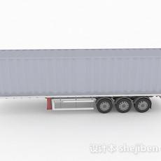 灰色货车集装箱3d模型下载
