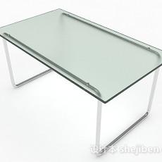 玻璃长方形餐桌3d模型下载