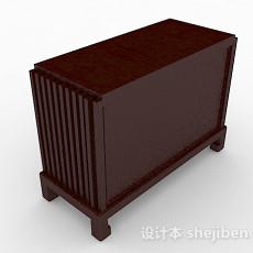 棕色木质存储柜3d模型下载