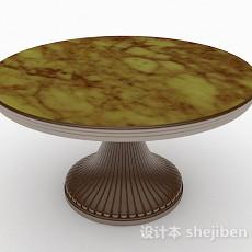 圆形大理石餐桌3d模型下载