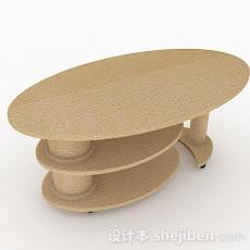 简约椭圆形茶几3d模型下载