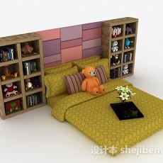家居榻榻米试儿童床3d模型下载