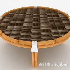 东南亚风格圆形茶几3d模型下载