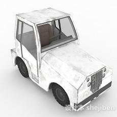 白色货车头3d模型下载