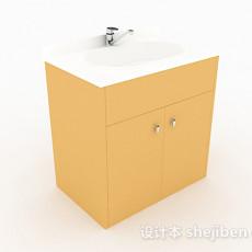 白色简约洗手台3d模型下载
