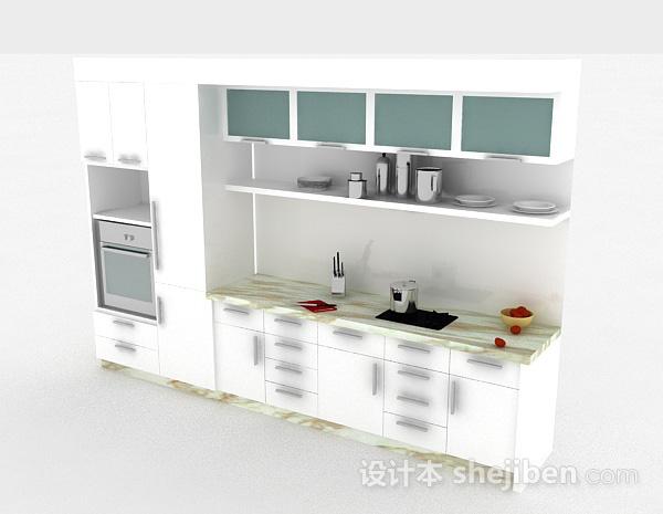 现代风格白色整体橱柜