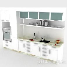 现代风格白色整体橱柜3d模型下载