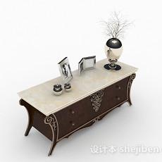 棕色厅柜3d模型下载