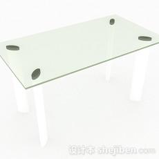 绿色玻璃餐桌3d模型下载