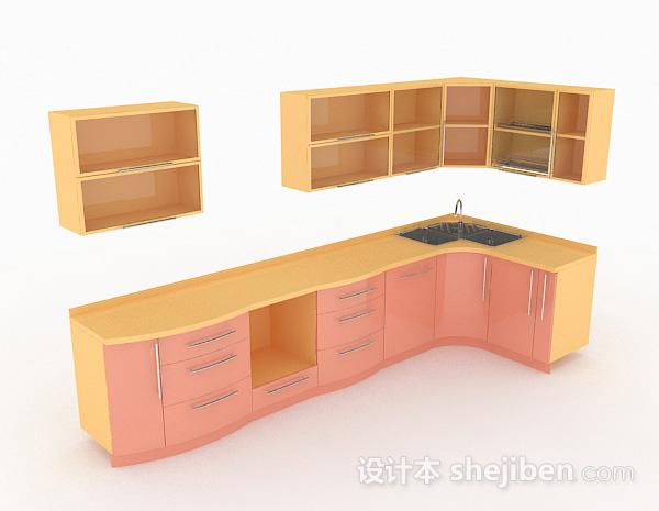 现代简约L型上下式整体橱柜