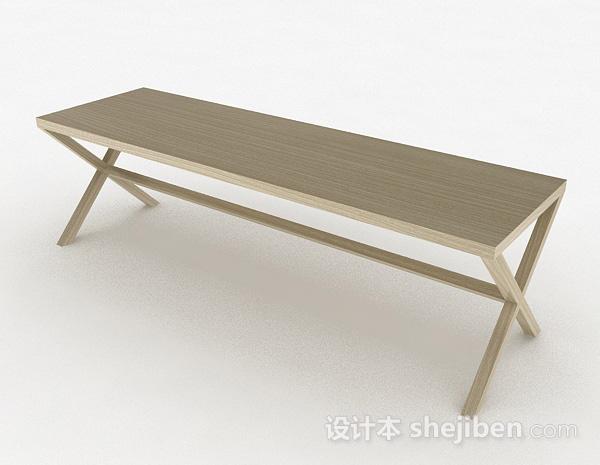简约长方形餐桌
