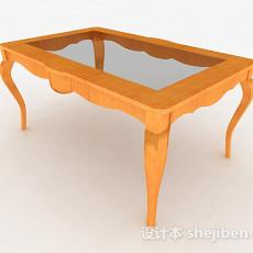 黄色茶几3d模型下载