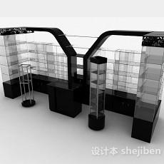 黑色玻璃酒柜3d模型下载