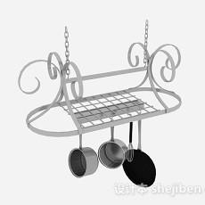 欧式悬挂式厨具晾碗架3d模型下载