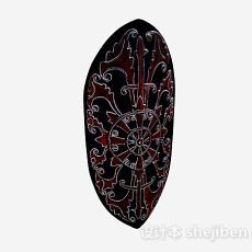 黑色古典民族风摆件3d模型下载