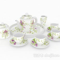 法式下午茶茶具3d模型下载