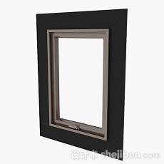 现代风格单门铝合金平开窗3d模型下载
