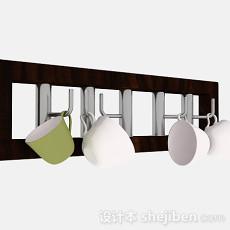 木质厨房晾碗架3d模型下载