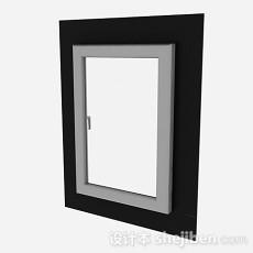 现代风格单门铝合金窗3d模型下载