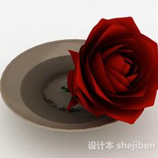 玫瑰摆设3d模型下载