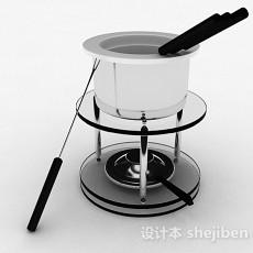 简约小巧巧克力火锅炉3d模型下载