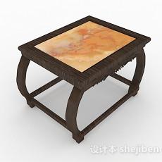 中式木质小茶几3d模型下载